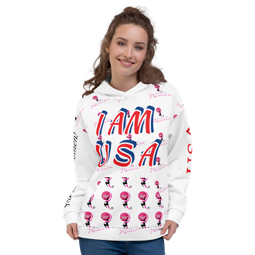 USA - Hoodie with Pocket. I AM USA