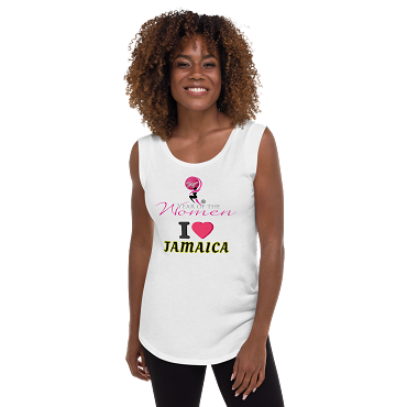 JAMAICA - Ladies Cap Sleeve T-Shirt. I Love Jamaica!