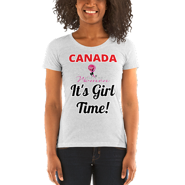 CANADA - Ladies' short sleeve t-shirt. CANADA It's Girl Time!